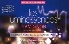 """Image Les_Luminessences - Spectacle monumental en 3D- """"Voix des muses du Palais des Papes"""""""