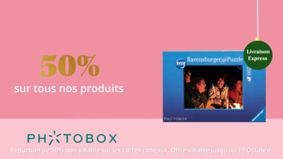 Vidéo Photobox Publicité Noël 2020
