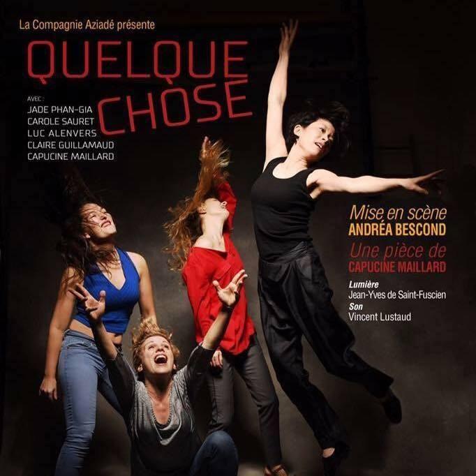 """Image """"Quelque Chose"""" une pièce de Capucine Maillard mise en scène par Andréa Bescond (Molière 2016 du meilleur Seul en scène) - crédit photo Philippe Denis"""