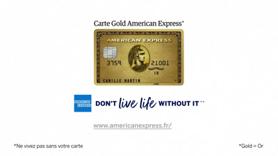 Vidéo Bilboard TV American Express TF1 & M6