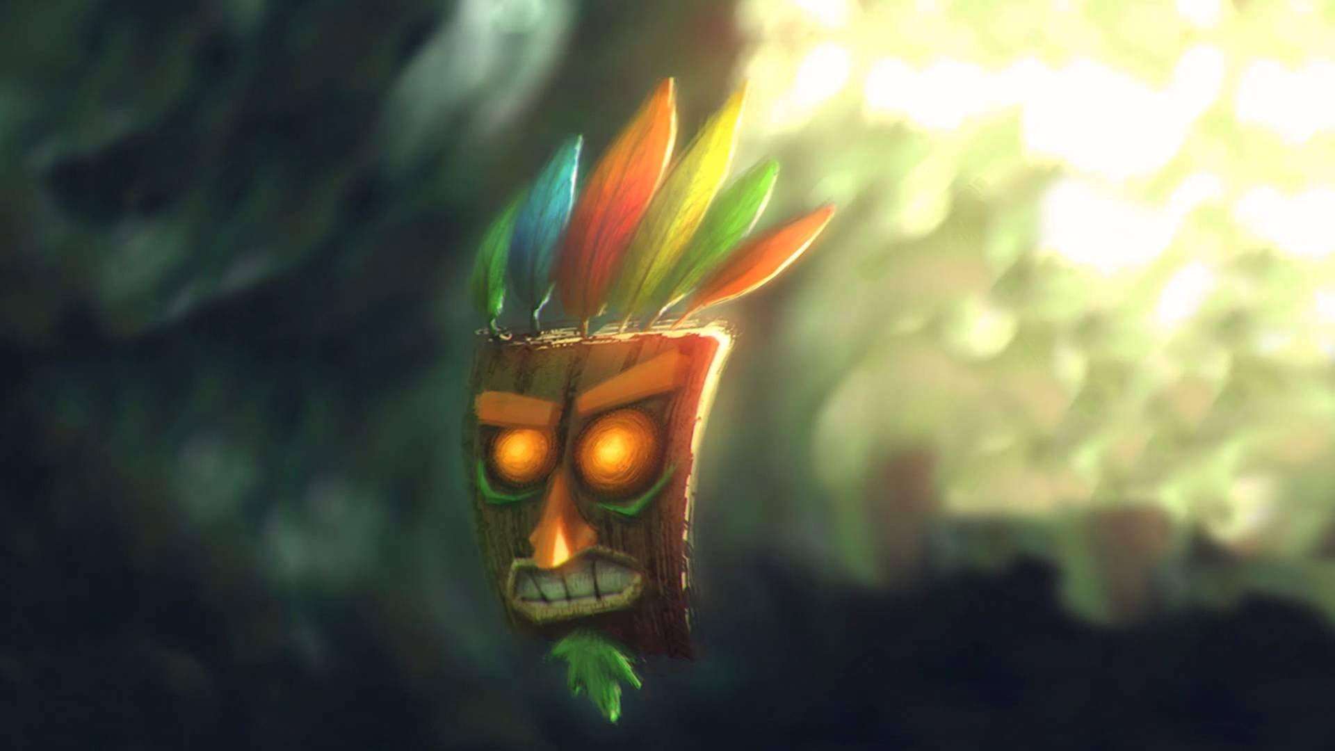 Image Aku Aku dans Crash Bandicoot